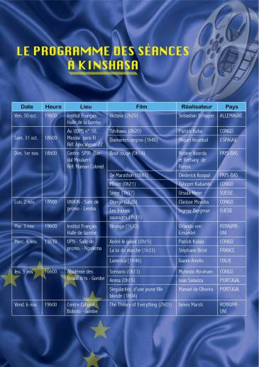 European Film Festival - Kinshasa (31/10 to 6/11)